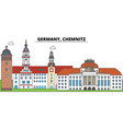 germany chemnitz city skyline architecture vector image vector image