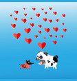 graphics in love with dogs vector image