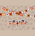halloween background with garlands vector image