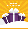 happy boxing day design vector image vector image