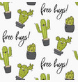 happy cactus print cool kids design vector image vector image