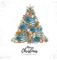holiday decorative christmas tree vector image