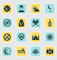 holiday icons set collection of islamic midday vector image vector image