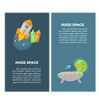 huge space promotional vertical posters with big vector image vector image