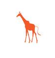 icon bright giraffe vector image vector image