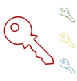 Key sign Set of line icons vector image
