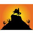 kiev bohdan khmelnytsy silhouette vector image vector image