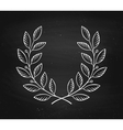 laurel wreath icon isolated on a black chalkboard vector image