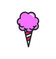 logo cotton candy monoline icon cotton vector image vector image