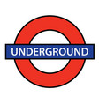 london underground vector image vector image