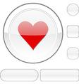 Love white button vector image