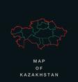Map of the Republic of Kazakhstan vector image vector image