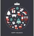 merry christmas and happy hanukkah seasonal vector image vector image