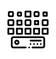 networking artificial big data center icon vector image