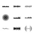 noise icons set simple style vector image vector image