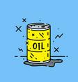 oil barrel spill icon vector image vector image