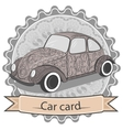 Ornamental vintage car vector image
