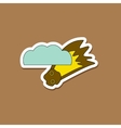 paper sticker on stylish background falling vector image vector image