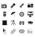 Photo studio icons set simple style vector image vector image