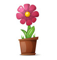 pot flower - cartoon vector image
