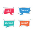 promotion banner with flat origami paper style vector image vector image