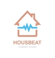 pulsating house logo vector image