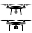 rc drone quadcopter with camera black symbol vector image vector image