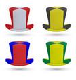 realistic hat of soccer fan vector image