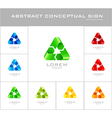 Recycling sign logo design template vector image vector image