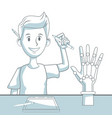 robotic hand concept vector image