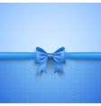 Romantic blue background with cute bow and pattern vector image