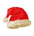 santa hat christmas and new year symbol vector image