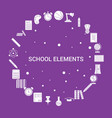 school elements icon set infographic template vector image vector image