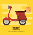 scooter bike delivery service vector image vector image