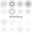 set circle elements vector image