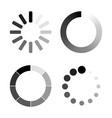 set loading icons white background vector image vector image