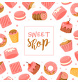 sweet shop banner template bakery candy shop vector image