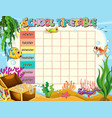 timetable school planning with characters vector image vector image
