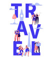 travel tour around world typography banner design vector image