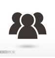 users flat icon sign user vector image vector image