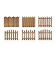 wood fence vector image vector image