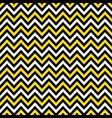 yellow and black chevron retro decorative pattern vector image vector image