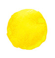 yellow watercolor stain vector image vector image