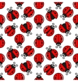 Ladybug Seamless On White Design Background vector image