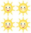 sun smilies set of drawings vector image
