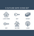 6 safe icons vector image vector image
