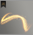 abstract golden light effect background vector image vector image