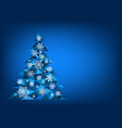 abstract polygonal christmas tree vector image vector image