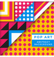 abstract pop art background vector image vector image