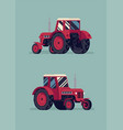 agricultural machinery farm field small tractor vector image